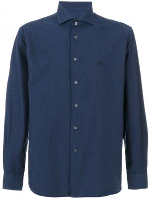 Logo chest embroidery shirt Corneliani. Цвет: синий