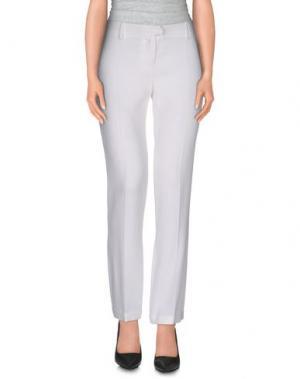 Повседневные брюки JUST CAVALLI. Цвет: белый