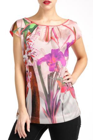 Блузка PAOLA COLLECTION. Цвет: мультицвет