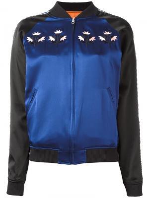 Двусторонняя куртка бомбер Opening Ceremony. Цвет: синий
