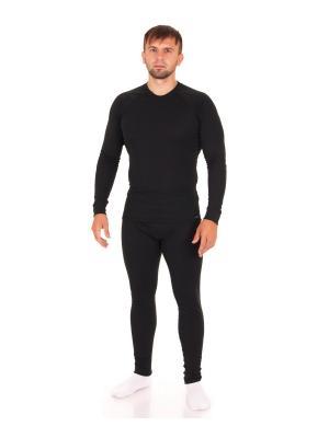 Термокомплект: лонгслив, кальсоны Optima-sport Polarwolf Private. Цвет: черный