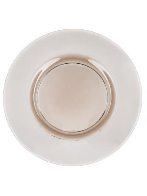 Тарелка Оливия оливковый прозрачный, D 32,5см Elff Ceramics. Цвет: оливковый