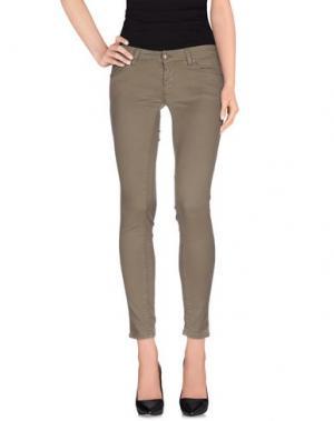 Повседневные брюки SUERTE. Цвет: зеленый-милитари