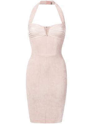 Платье с вырезом-халтер Jitrois. Цвет: розовый и фиолетовый