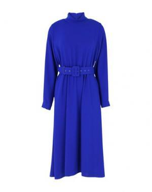 Платье длиной 3/4 ALEXANDER TEREKHOV. Цвет: синий