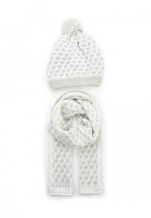 Комплект шапка и шарф Maxval. Цвет: серый