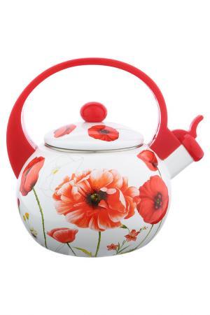 Чайник 2 л WINNER. Цвет: белый, цветы