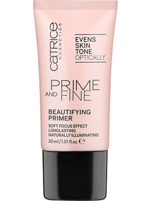 Основа выравнивающая Prime And Fine Beautifying Primer Catrice. Цвет: серый меланж