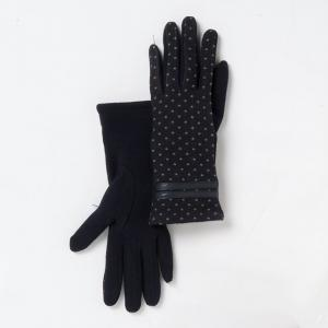 Перчатки - MADEMOISELLE R. Цвет: темно-синий в горошек