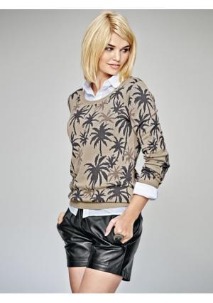 Пуловер Mandarin. Цвет: серо-коричневый