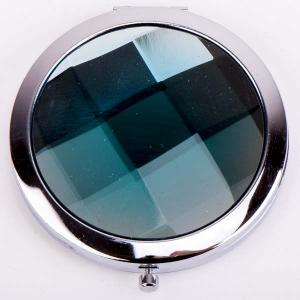 Зеркальце Красотка металл, пластик, арт. МР-163 Бусики-Колечки. Цвет: синий