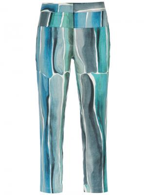 Printed cropped trousers Giuliana Romanno. Цвет: none