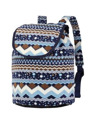 Рюкзак NOSIMOE. Цвет: синий, белый