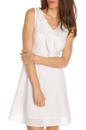 Платье GAZOIL. Цвет: белый