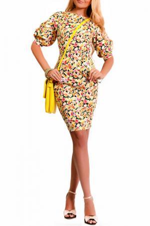 Платье LASKANY collezioni. Цвет: золотистый