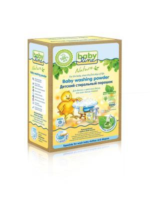 Детский стиральный порошок BABYLINE NATURE на основе натуральных ингредиентов 2,25 кг., 50 стирок. Цвет: желтый