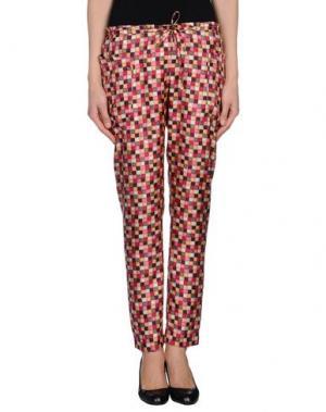 Повседневные брюки INTROPIA. Цвет: фуксия