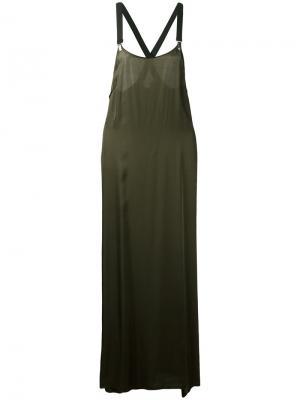 Длинное платье Dai Damir Doma. Цвет: зелёный