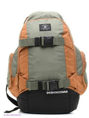 Рюкзак DC Shoes. Цвет: светло-коричневый, терракотовый, коричневый