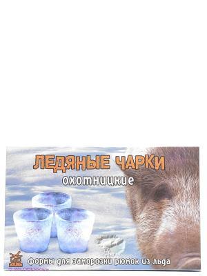 Ледяные чарки Охотницкие Форма для заморозки рюмок из льда Экспедиция. Цвет: оранжевый