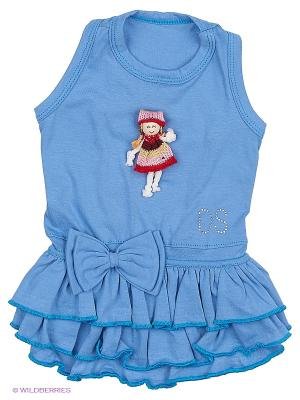 Платье Doggy Style. Цвет: синий