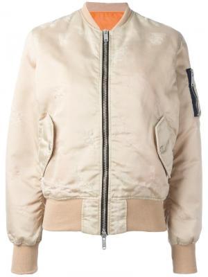 Классическая куртка-бомбер Unravel Project. Цвет: телесный
