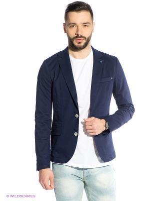 Пиджак Oodji. Цвет: темно-синий
