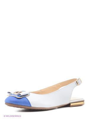 Балетки Riconte. Цвет: белый, голубой