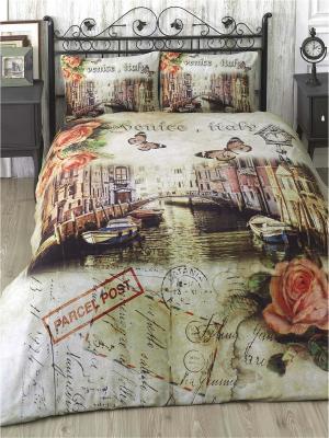 Комплект постельного белья VENICE ранфорс, 140ТС, 100% хлопок, 1,5 ISSIMO Home. Цвет: бежевый