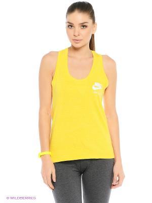 Топ W NSW GYM VNTG TANK Nike. Цвет: желтый
