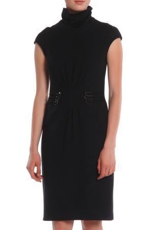 Платье с горловиной-стойкой Apanage. Цвет: черный