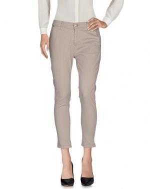 Повседневные брюки AN UPDATE. Цвет: светло-серый