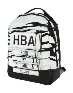 Рюкзаки и сумки на пояс HBA HOOD BY AIR. Цвет: белый