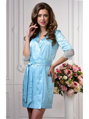 Халат женский AnGela. Цвет: голубой