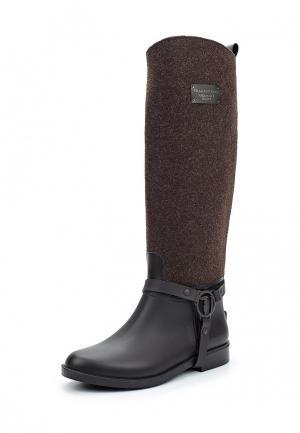 Резиновые сапоги Trussardi Jeans. Цвет: коричневый