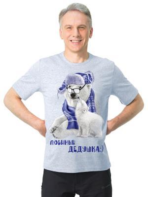 Футболка MF. Цвет: голубой