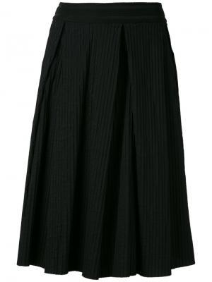 Pleated midi skirt Federica Tosi. Цвет: чёрный
