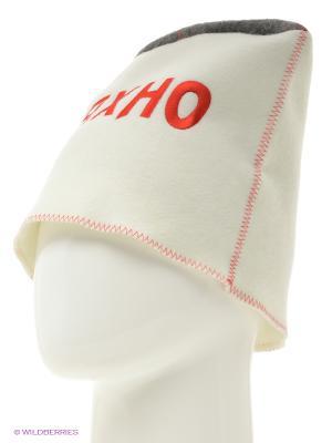 Шапка для бани папаха Махно Метиз. Цвет: белый, серый
