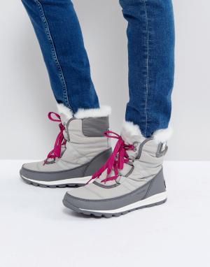 Sorel Водонепроницаемые ботинки с подкладкой из искусственного меха It. Цвет: черный