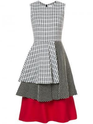 Многослойное платье с мелким узором Novis. Цвет: чёрный