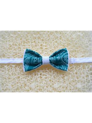 Галстук-бабочка BOB Accessories. Цвет: зеленый, белый