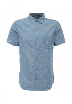 Рубашка Globe. Цвет: голубой