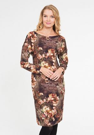 Платье Yaroslavna. Цвет: коричневый