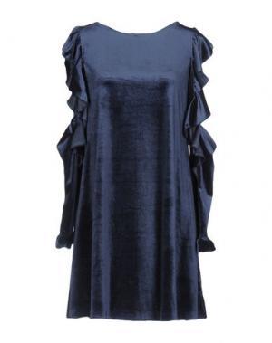 Короткое платье GUTTHA. Цвет: грифельно-синий