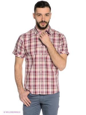 Рубашка Mavango. Цвет: бордовый, бледно-розовый