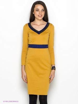 Платье DOCTOR E. Цвет: горчичный