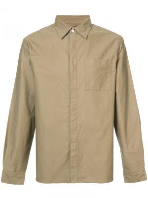 Классическая рубашка Saturdays Nyc. Цвет: коричневый