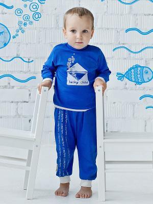 Водолазка Lucky Child. Цвет: синий, белый