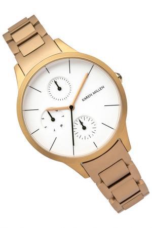 Часы наручные Karen Millen. Цвет: золотой