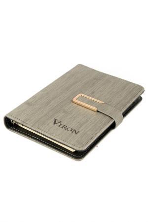 Ежедневник 21x15 см 80 листов VIRON. Цвет: серый